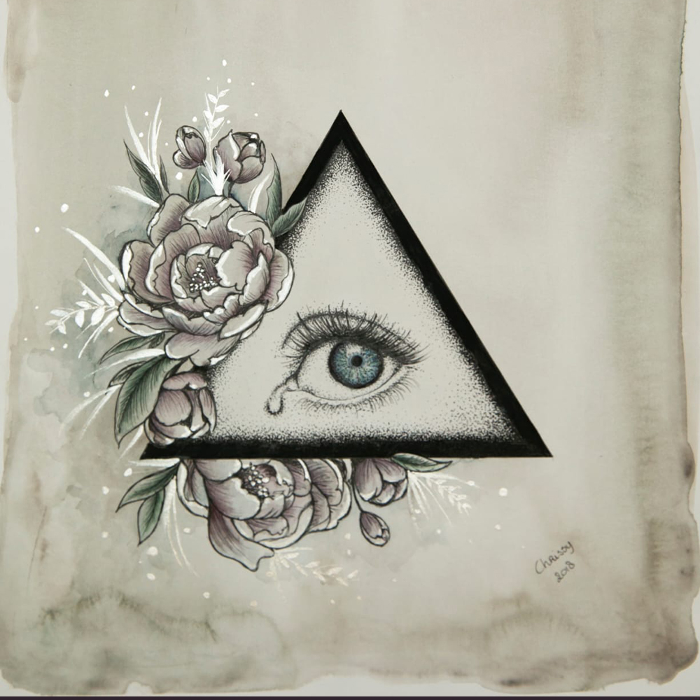 All seeing eye painting